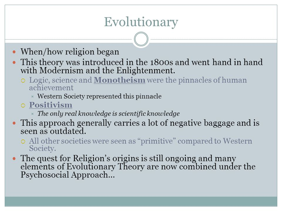 Evolutionary When/how religion began