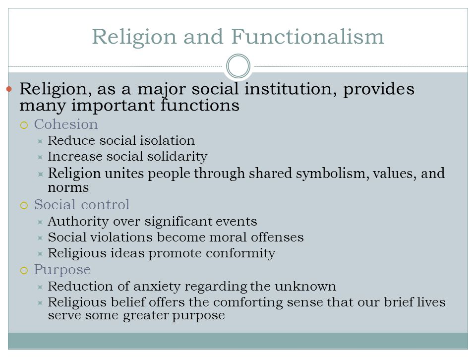 Religion and Functionalism