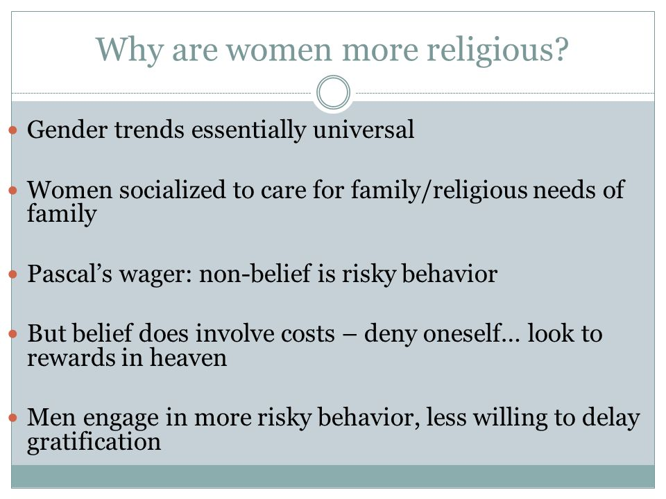 Why are women more religious