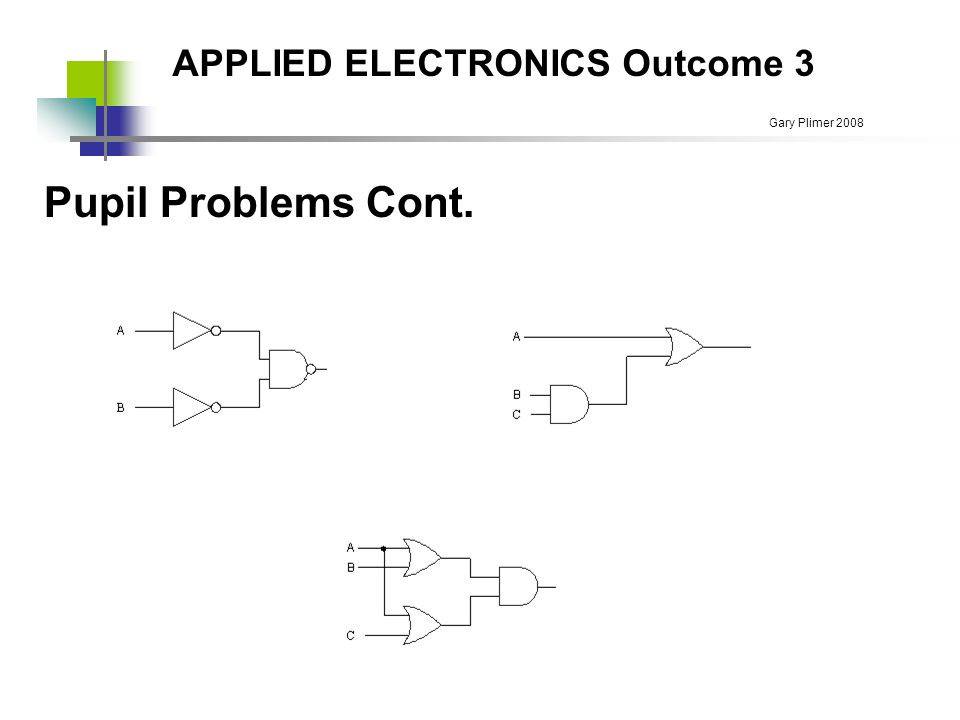 applied electronics outcome 3