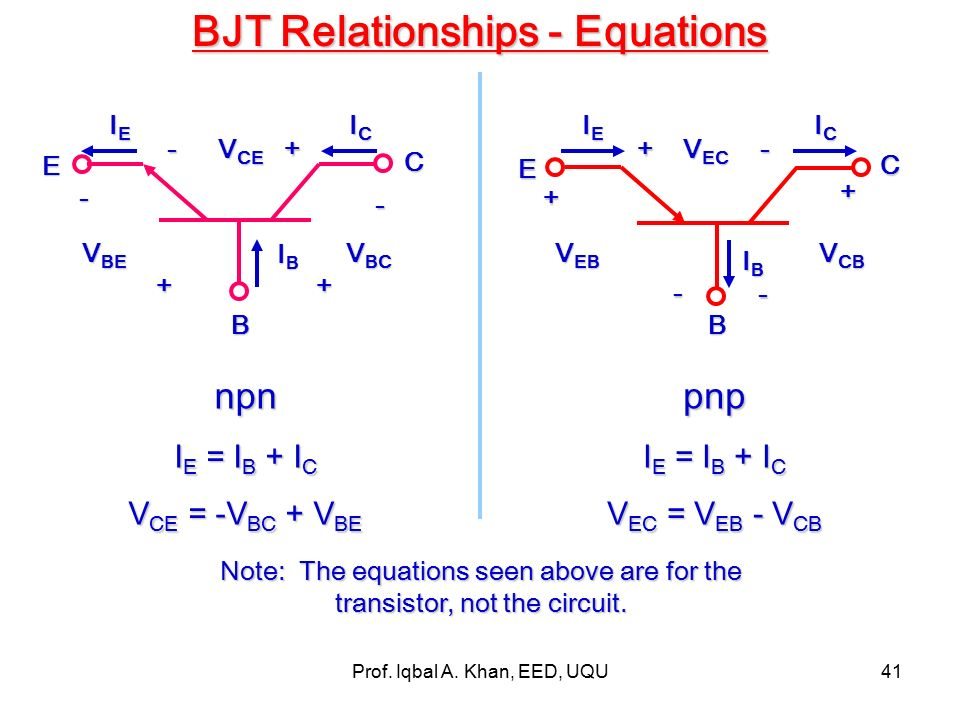 relationship between ic and vce