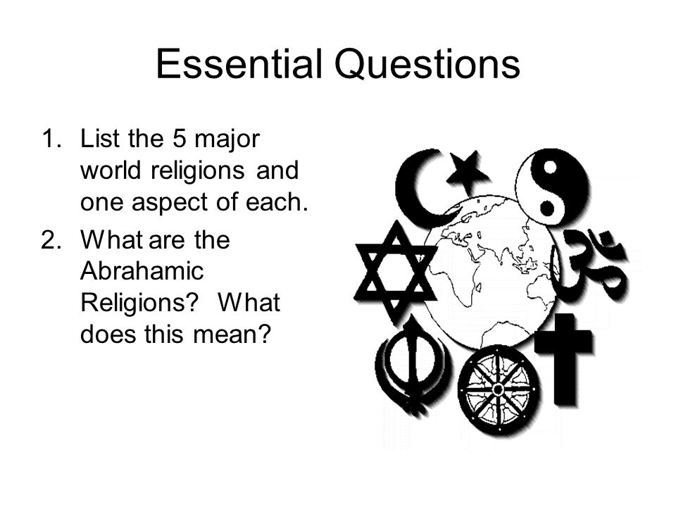 World Religions Activity Ppt Download - 5 major world religions