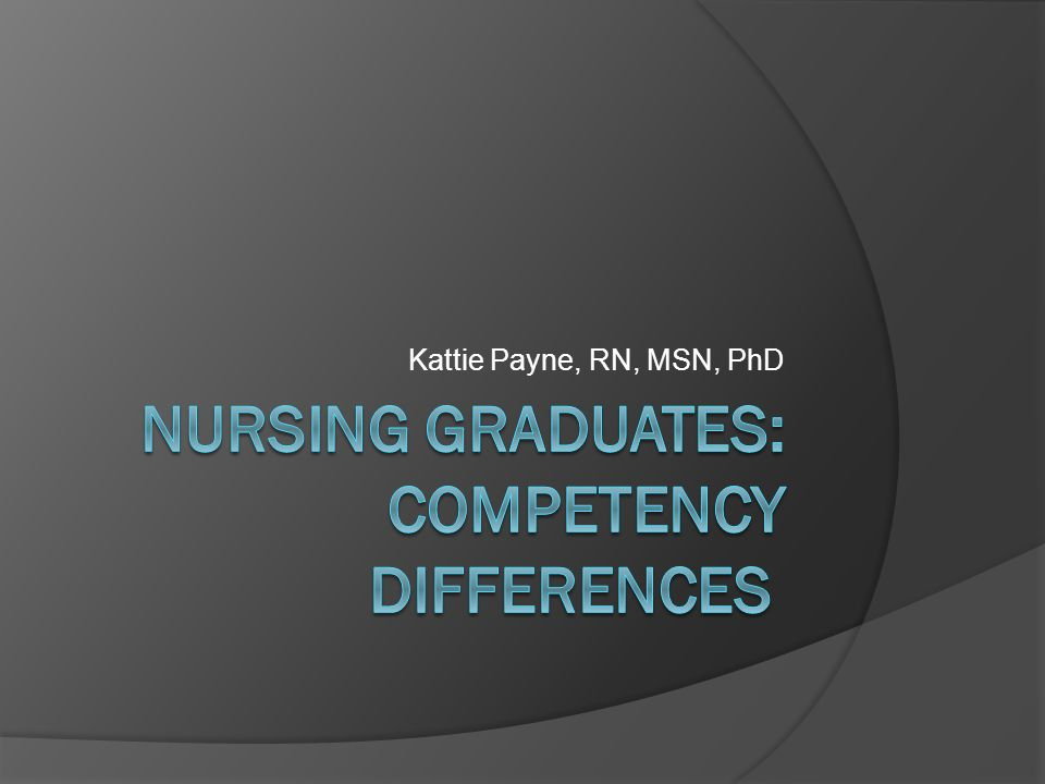 the differences in competences between nurses Insufficient competence among nursing staff is a major concern in elderly care   the main difference between the models seems to be.
