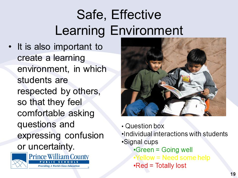creating effective learning environments for learners I think the reason for this is that my approach to building an effective learning environment is driven by a the learner all they can do is to create and manage.