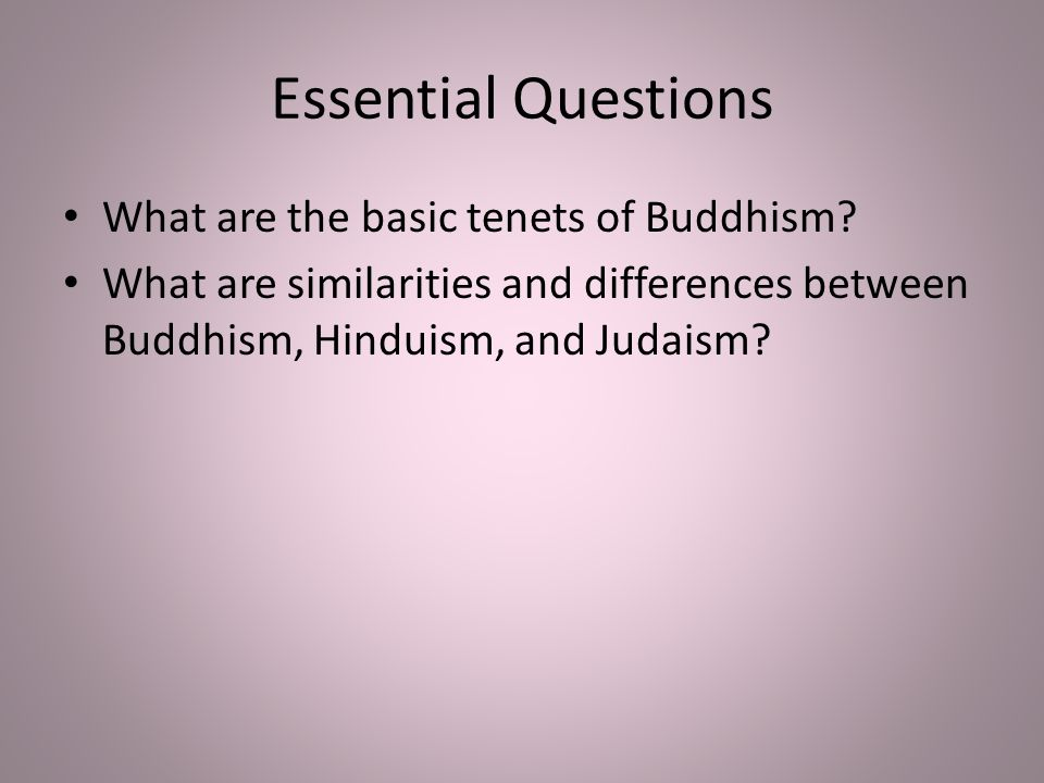 Basic Tenets of Buddhism