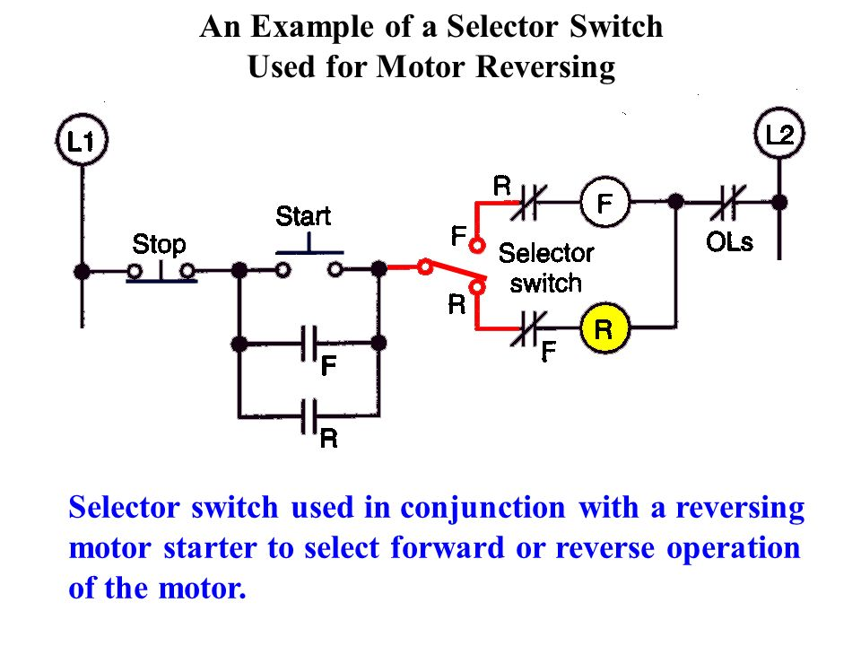 Forward Reverse Selector Switch Wiring Diagram