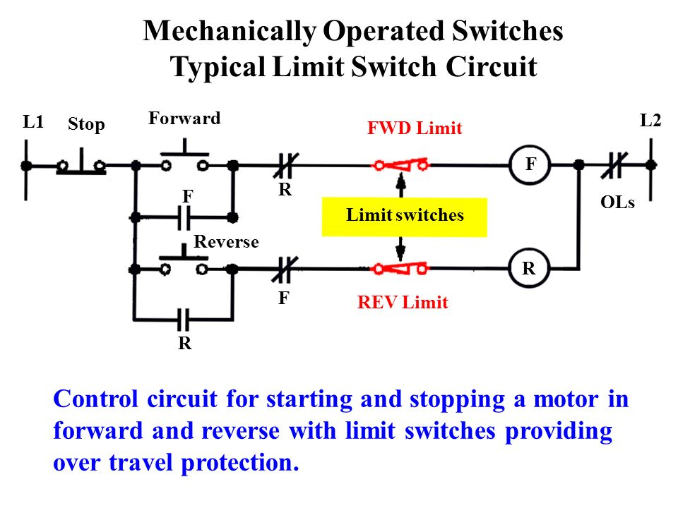 Chapter 6 control relays ppt video online download for Forward reverse dc motor control circuit