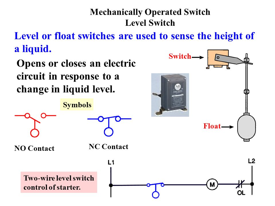 Float Switch Symbol Electrical