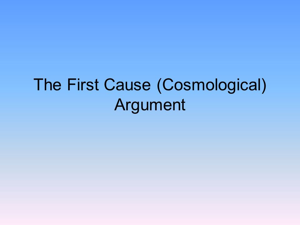 outline aquinas cosmological argument Thomas aquinas, the cosmological argument a reading selection of thomas's five arguments for god's existence from the textbook reading for.