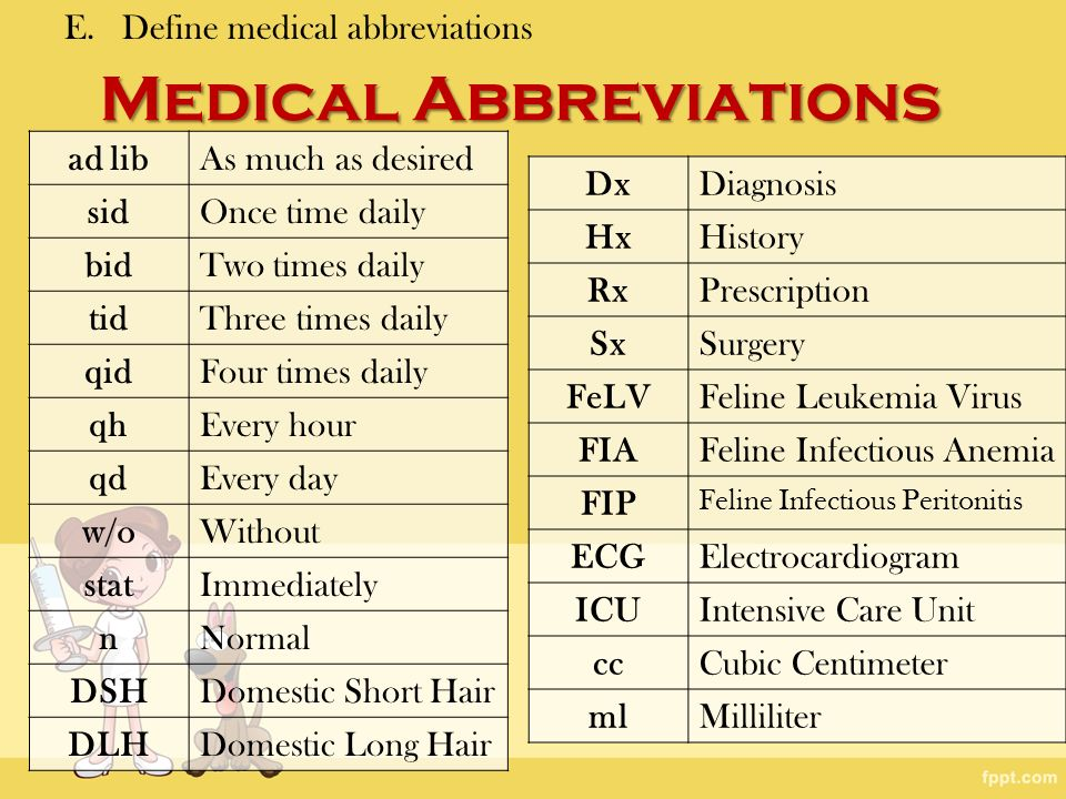 The use of medical abbreviations Research paper Example - August