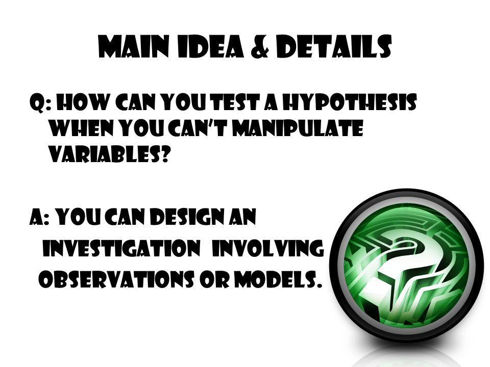 Main Idea & Details