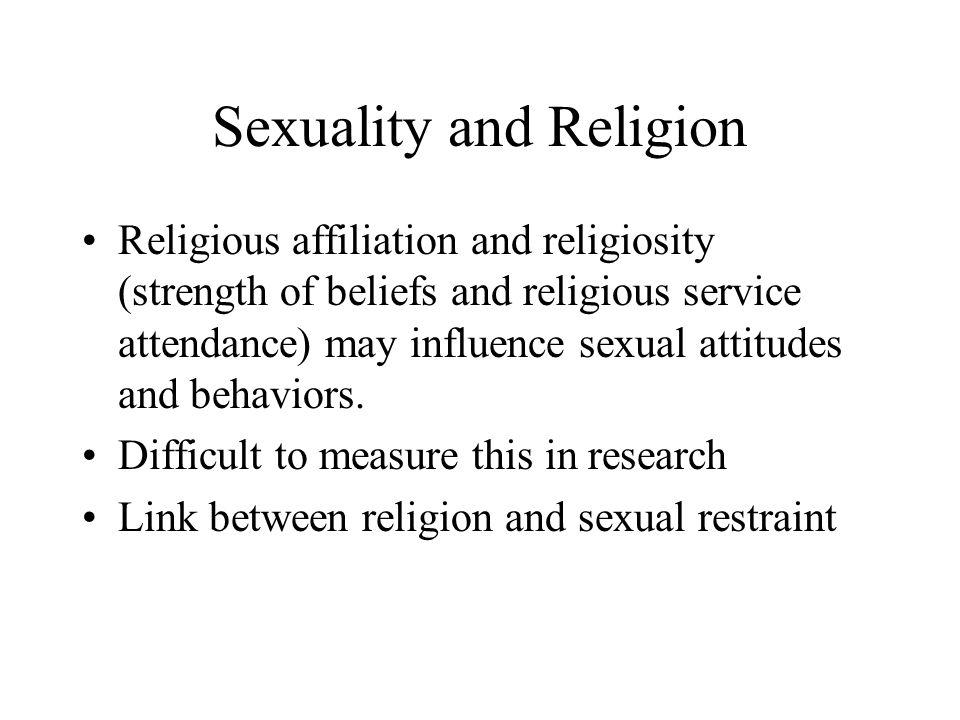 Religiosity sexual attitude and behavior
