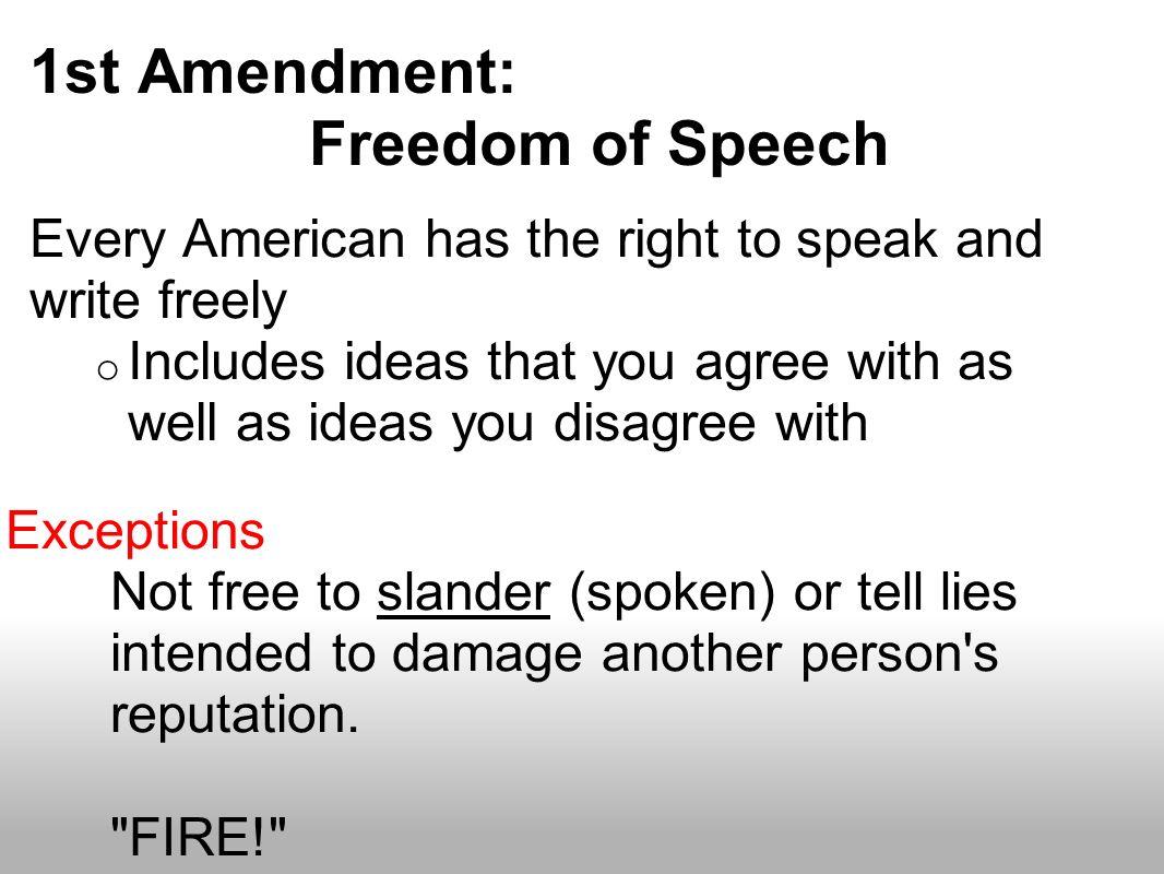 bill of rights 1st amendment essay