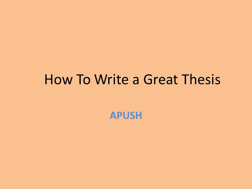 ap thesis writing