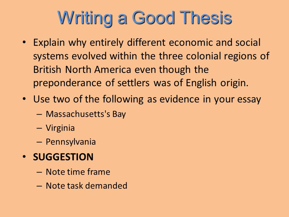 Online thesis writing ppt download