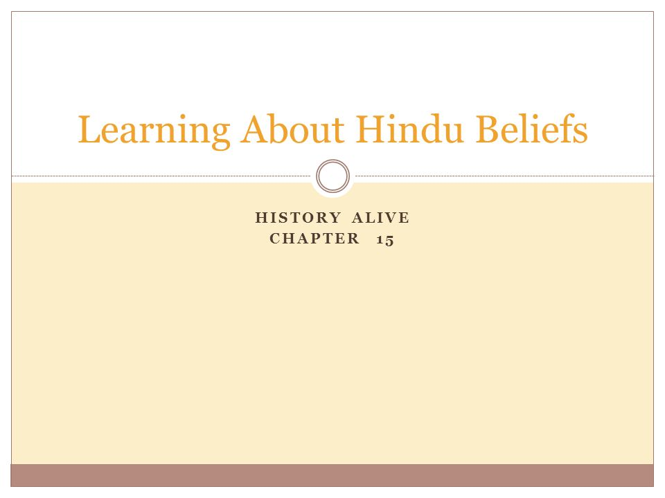 Learning About Hindu Beliefs