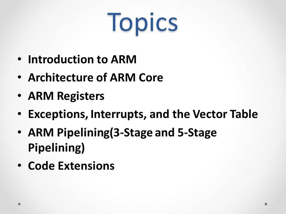 Arm7tdmi Architecture Ppt EMBEDDED SYSTEM DESIGN ARM architecture
