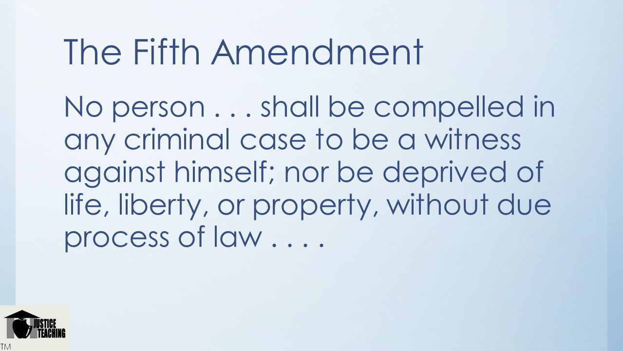 Deprive Any Person Of Life Liberty Or Property Without