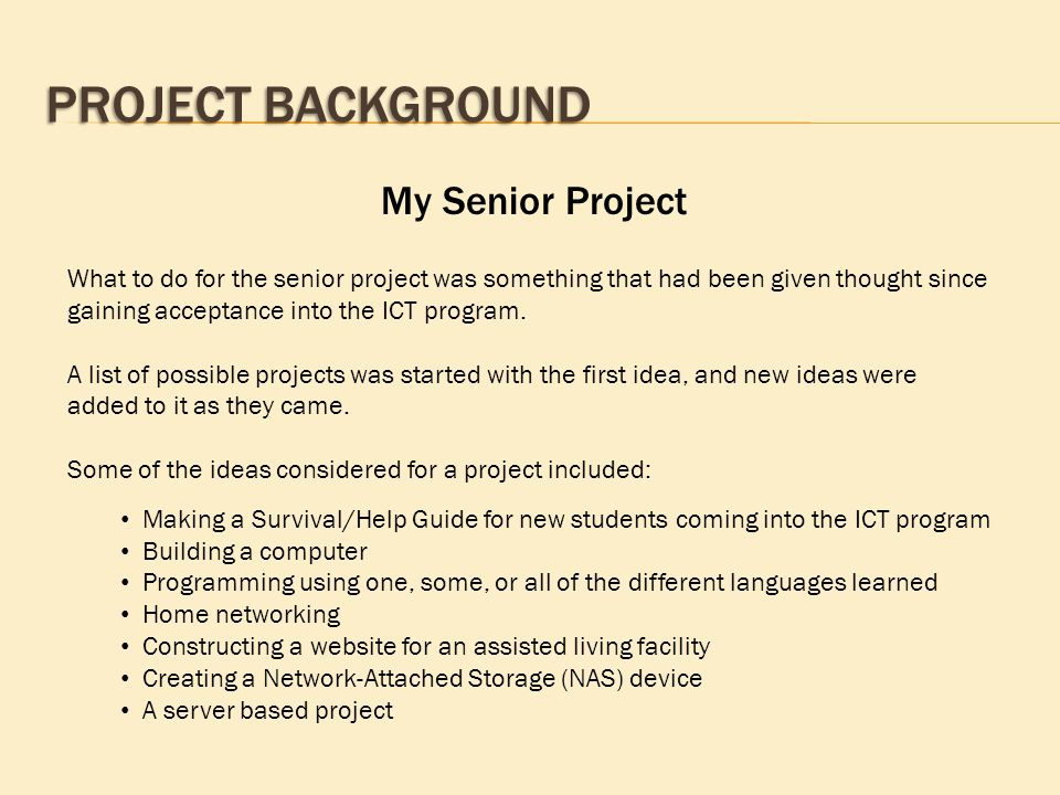 a report on doing my senior project 2009-6-29  basic skills for project managers  who can i rely on in my project team 5  project managers and senior management need to ask themselves some basic.