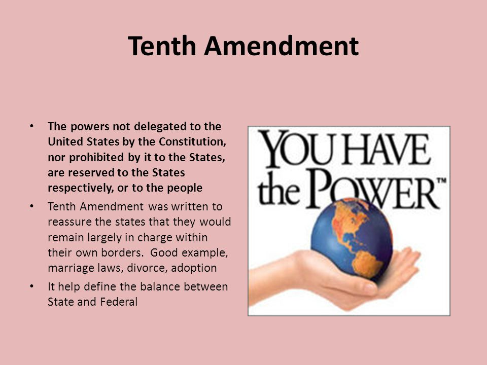 Meaning Of The 10th Amendment