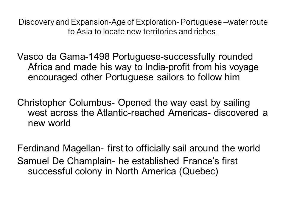 Ferdinand Magellan- first to officially sail around the world