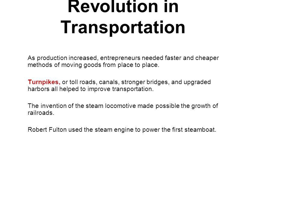 Revolution in Transportation