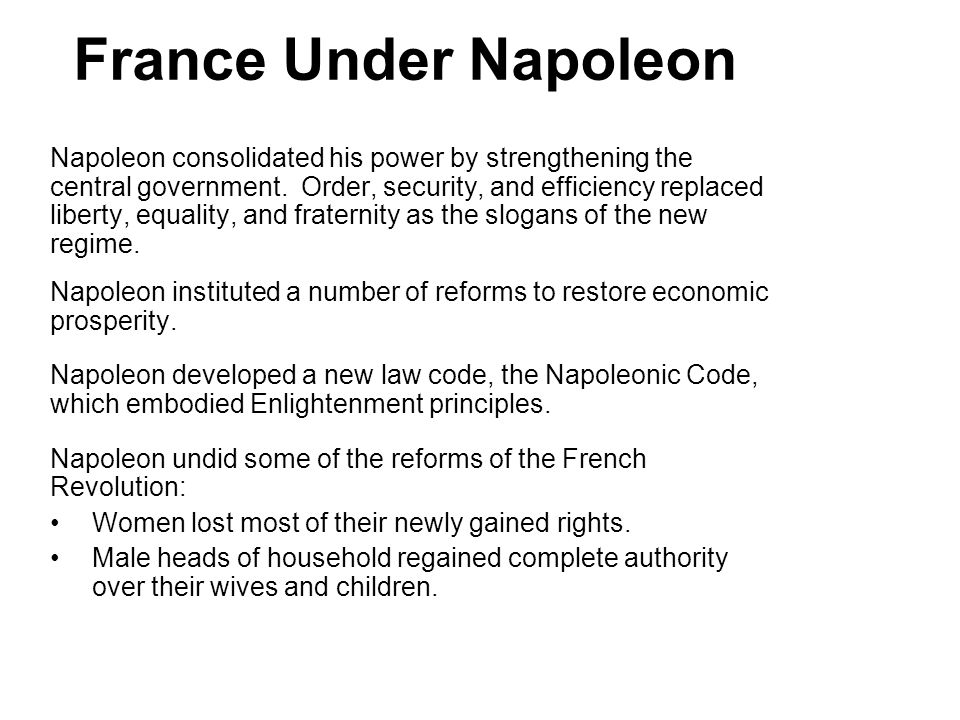 4 France Under Napoleon.