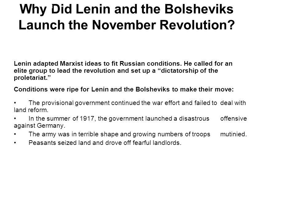 Why Did Lenin and the Bolsheviks Launch the November Revolution
