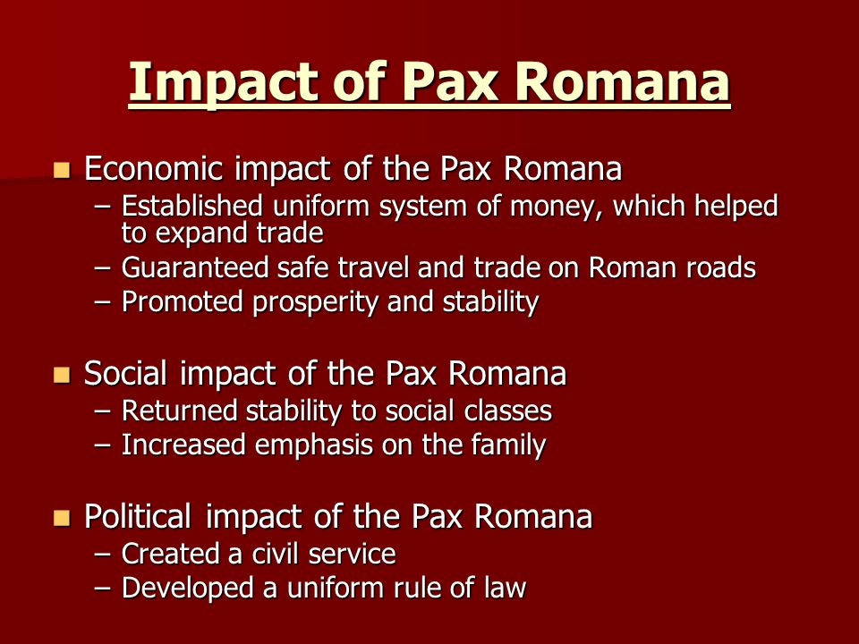 ancient rome development pax romana - photo#21