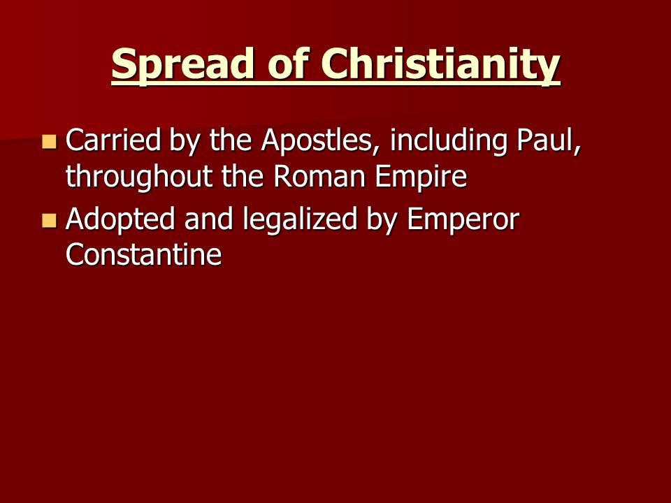 the significance of the life and teaching of paul to the spread and influence of christianity Christianity was spread through the roman empire by the early followers of  jesus although saints peter and paul are said to have established the church in  rome, most of the  true nature of christ, salvation, and the life of a christian   alexandria, and clement of rome—helped define, in a broad sense, the  doctrines of.