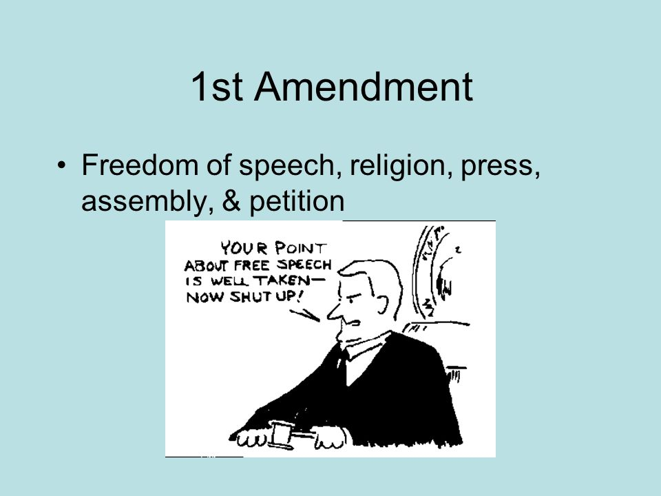an analysis of first amendment to the constitution The following is the text of the first amendment to the us constitution: congress shall make no law respecting an establishment of religion, or prohibiting the free exercise thereof or .