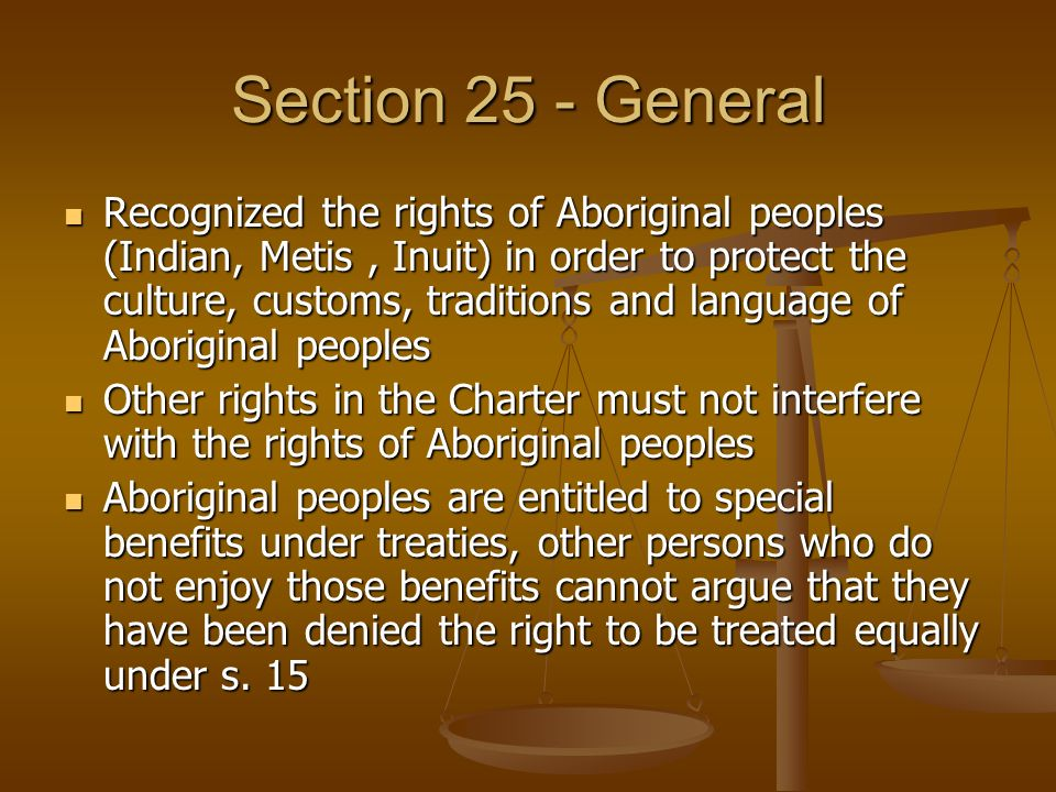 Section 25 - General