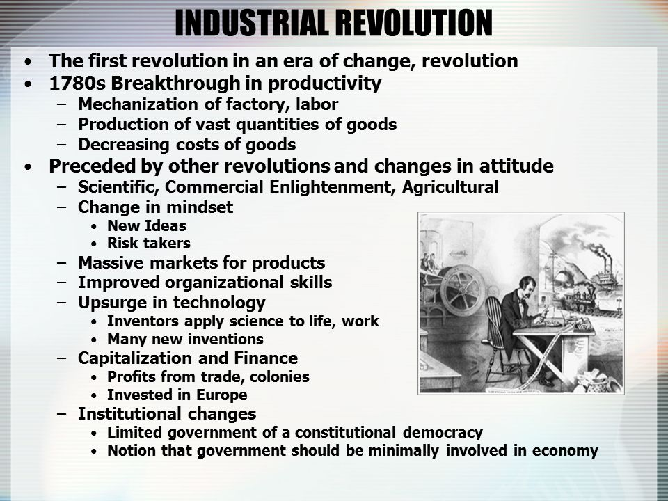 the agricultural commercial and scientific revolutions as the causes of the industrial revolution in 1 causes of the industrial revolution: an overview american slavery, the scientific revolution, the glorious revolution answer is both, since a rising population made possible greater effective demand and was made possible by greater agricultural and industrial.