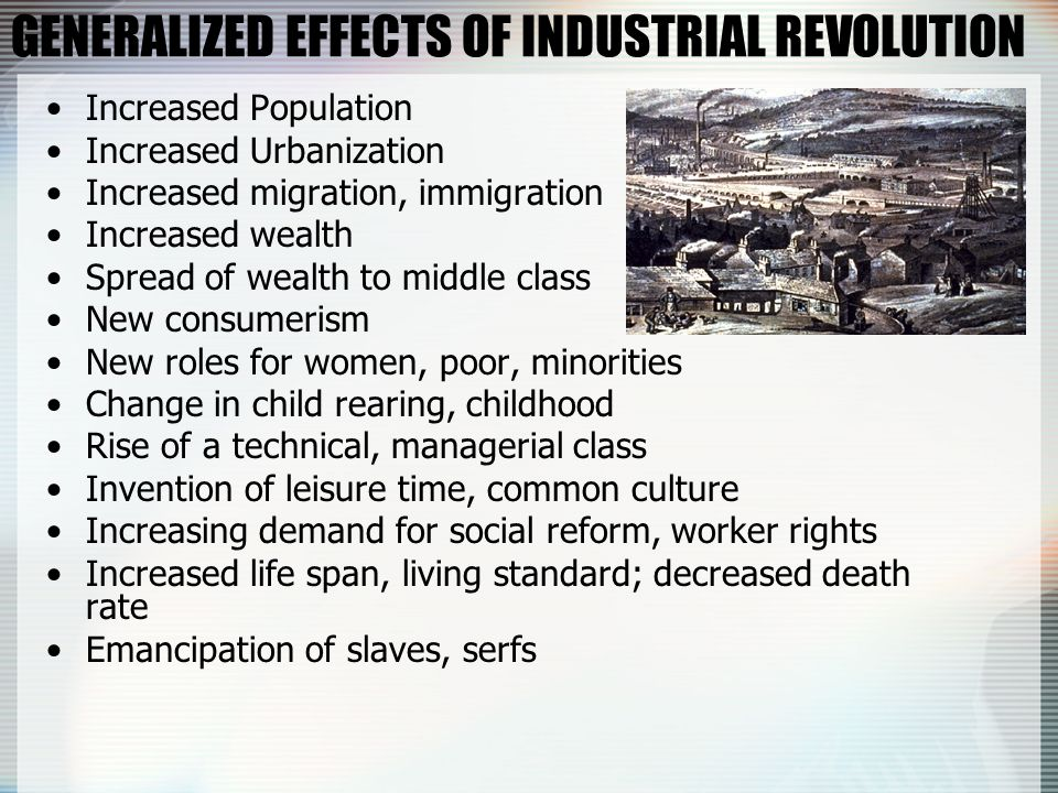 the effects of the industrial revolution in europe Industrial revolution essay - free download as  during the industrial revoltuion,  besides the postive effects, the industrial revolution also had negative effects.