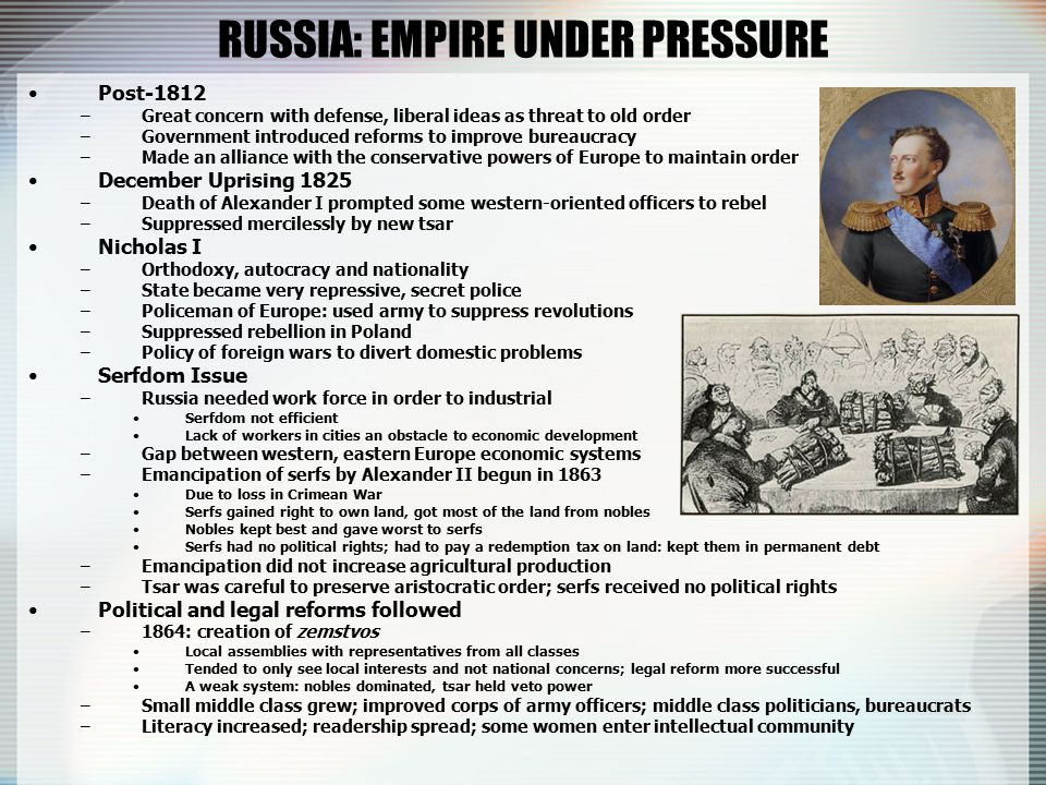 imperial russian middle class essay New ideas about nationalism, race, gender, class, and culture also developed that facilitated the spread of transoceanic empires, as well as justified anti-imperial resistance and the formation of new national identities.