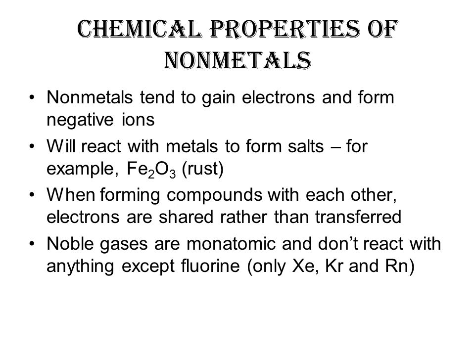 chemical properties of metals pdf