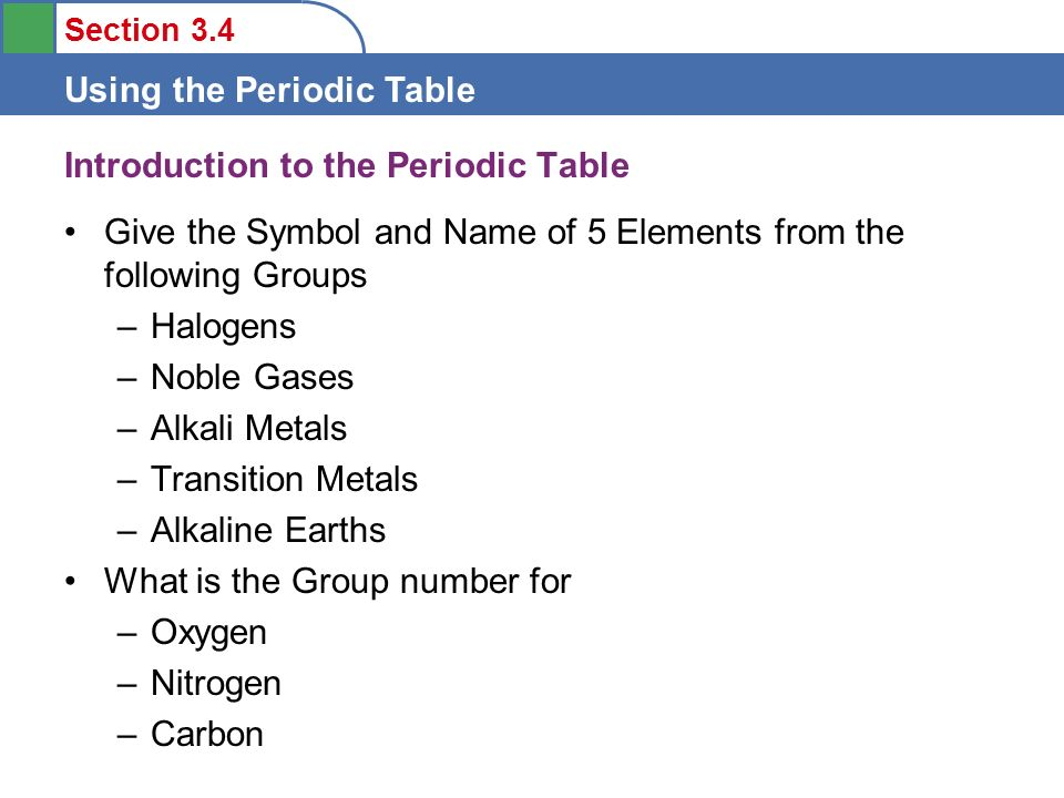objectives to learn some features of the periodic table ppt periodic table halogen periodic table symbol - Periodic Table Halogen Symbol