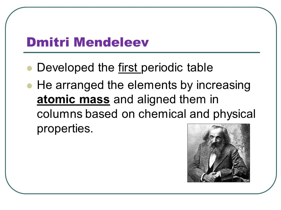 The first periodic table based on atomic mass was devised by gallery the first periodic table based on atomic mass was devised by images the first periodic table urtaz Image collections