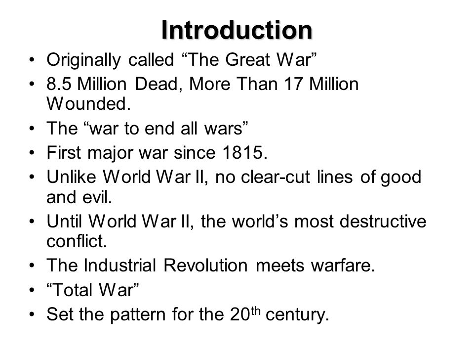An introduction to the end of the second world war