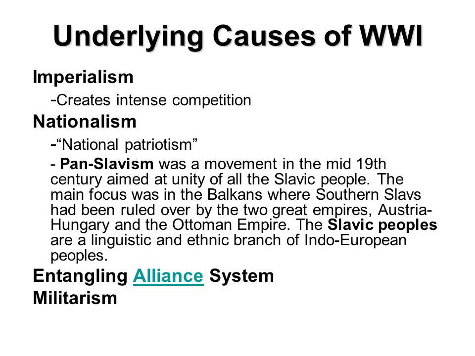 Pan slavism the cause of wwi