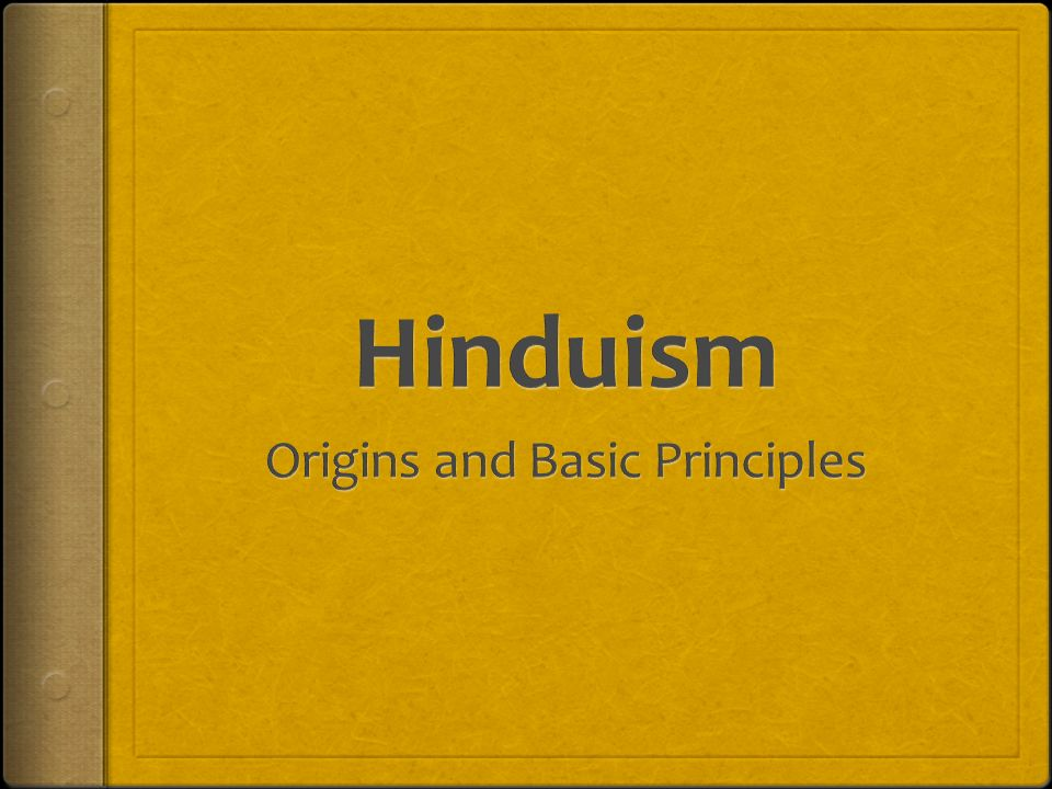 Origins and Basic Principles