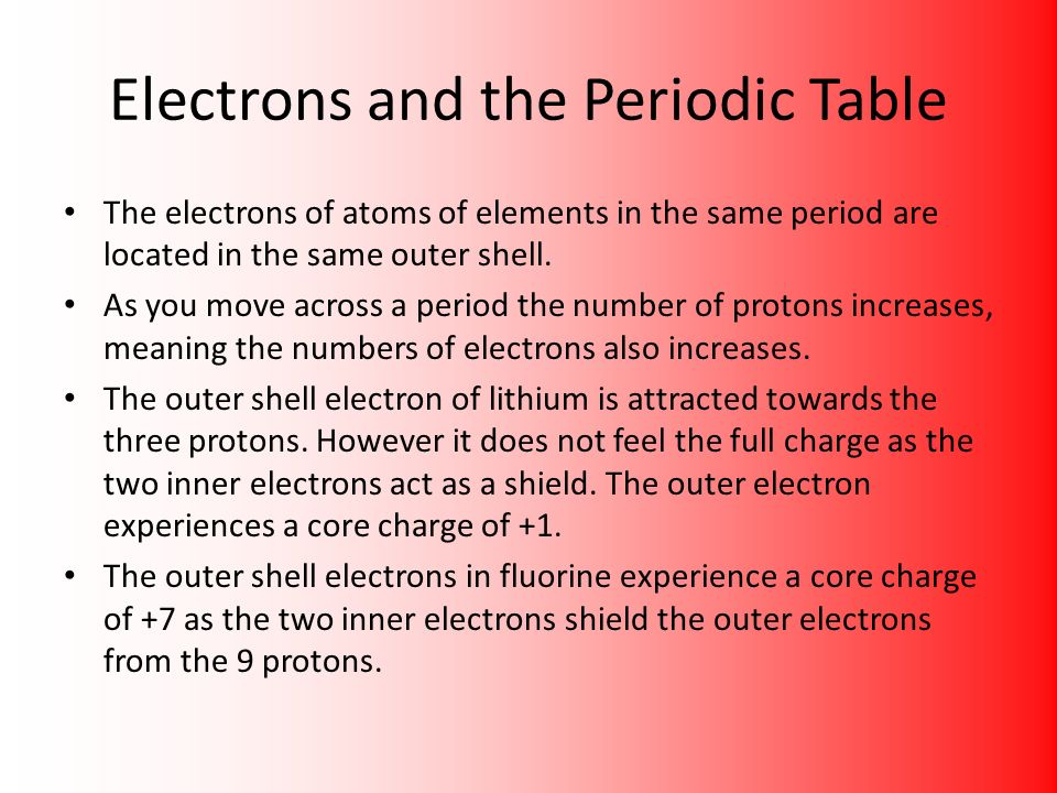 Chapter 3 the periodic table ppt download electrons and the periodic table urtaz Image collections