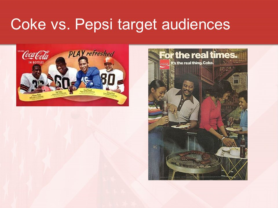 pepsi refresh target audience 'pepsi refresh project' is a new campaign launched by pepsico inc in 2009 and will run over the course of 2010 to freshen up the image of its flagship drink, pepsi the project invites people to submit their ideas on how to 'refresh' their communities.