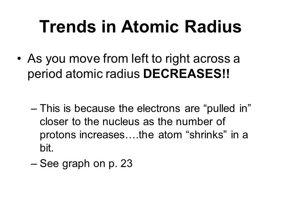 trends in atomic radius - Periodic Table Left To Right Atomic Radius