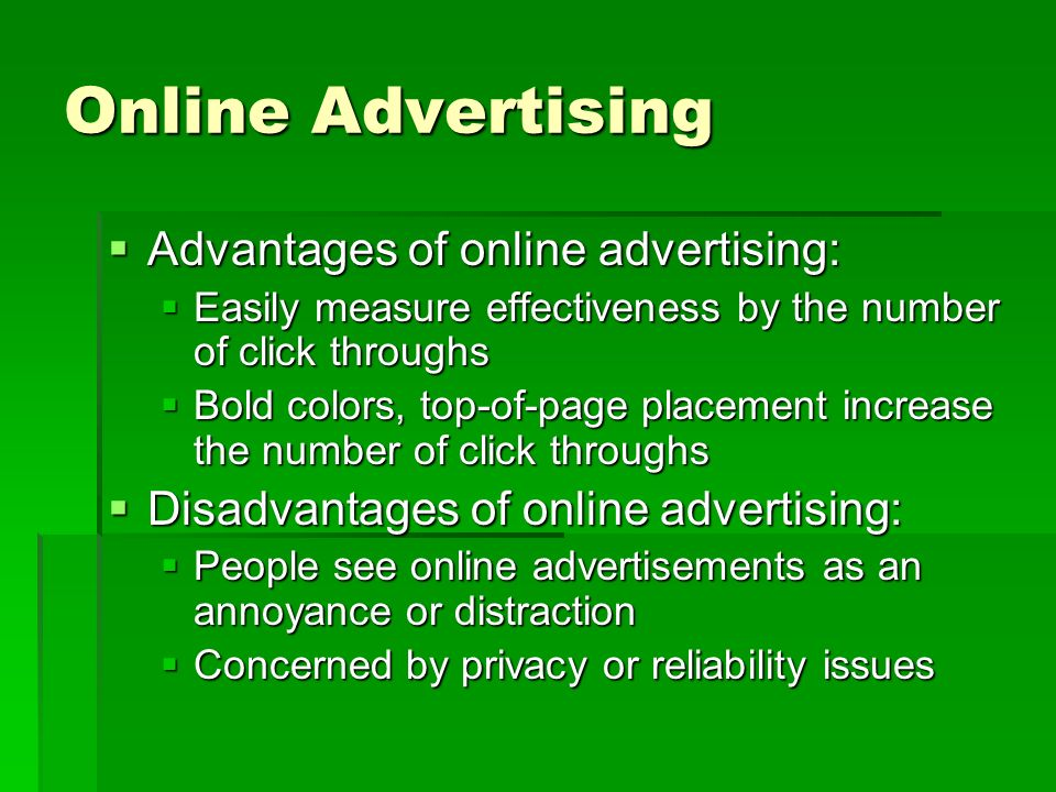 effectiveness of online advertising pdf