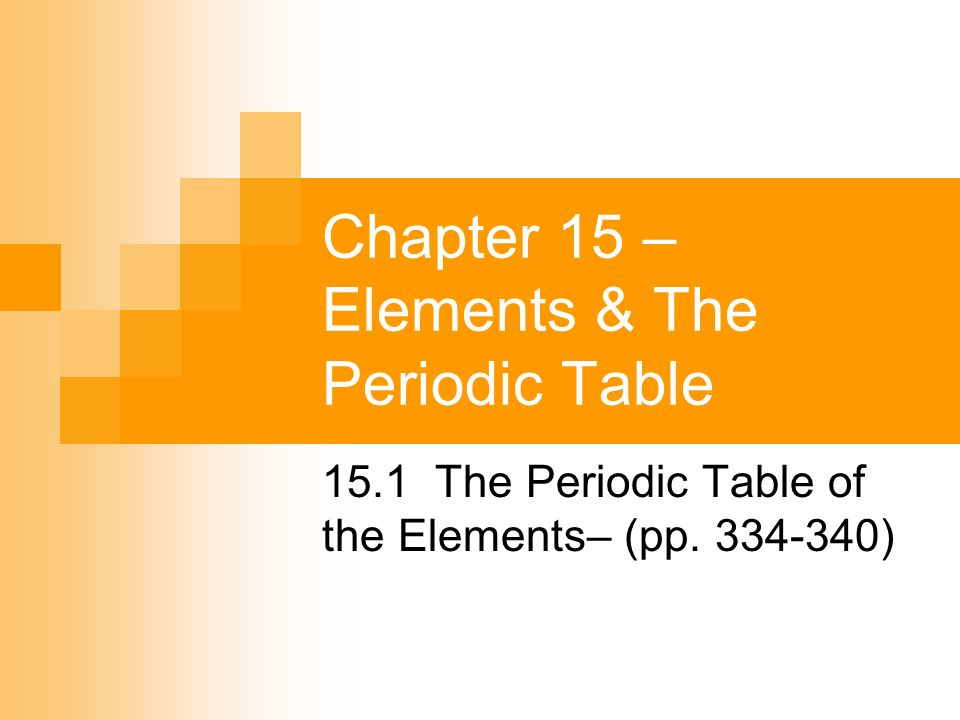 Chapter 15 elements the periodic table ppt video for 1 20 elements on the periodic table