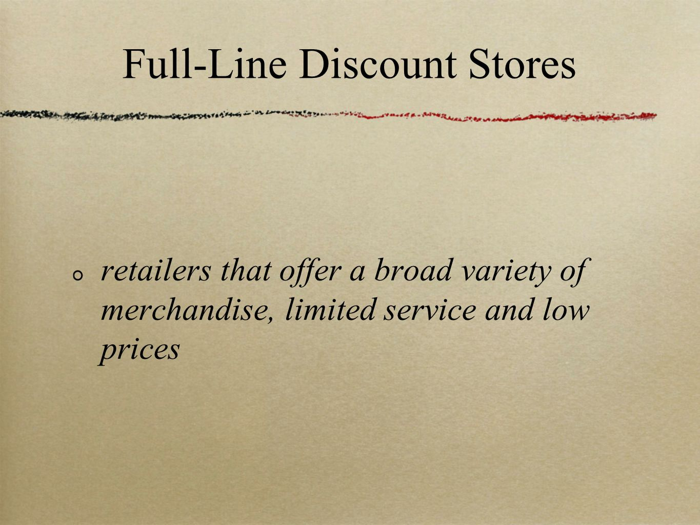 Full-Line Discount Stores