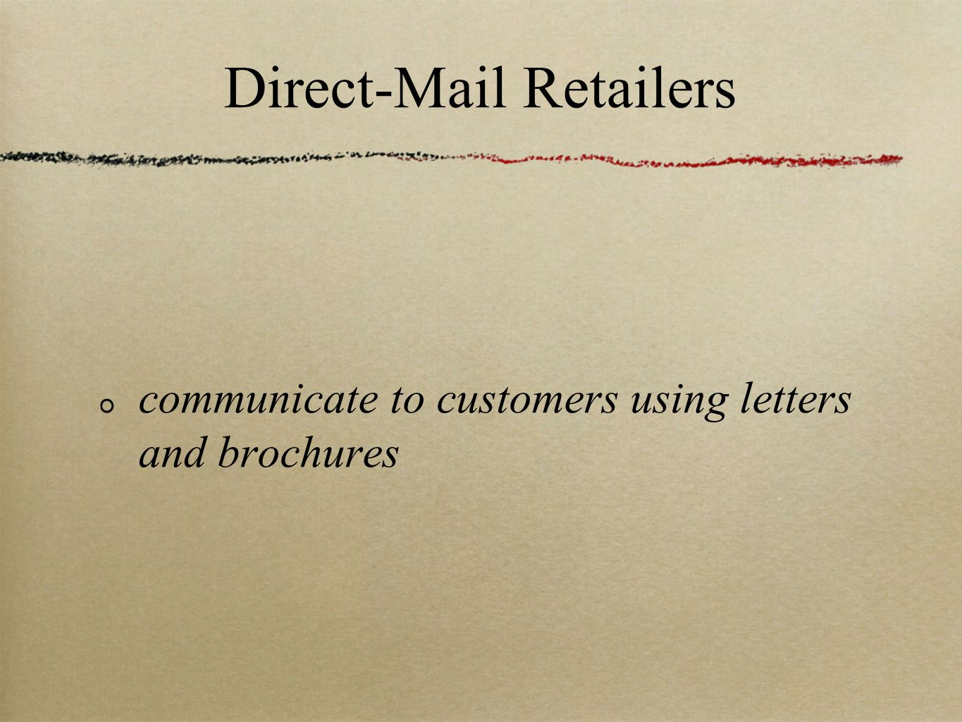 Direct-Mail Retailers