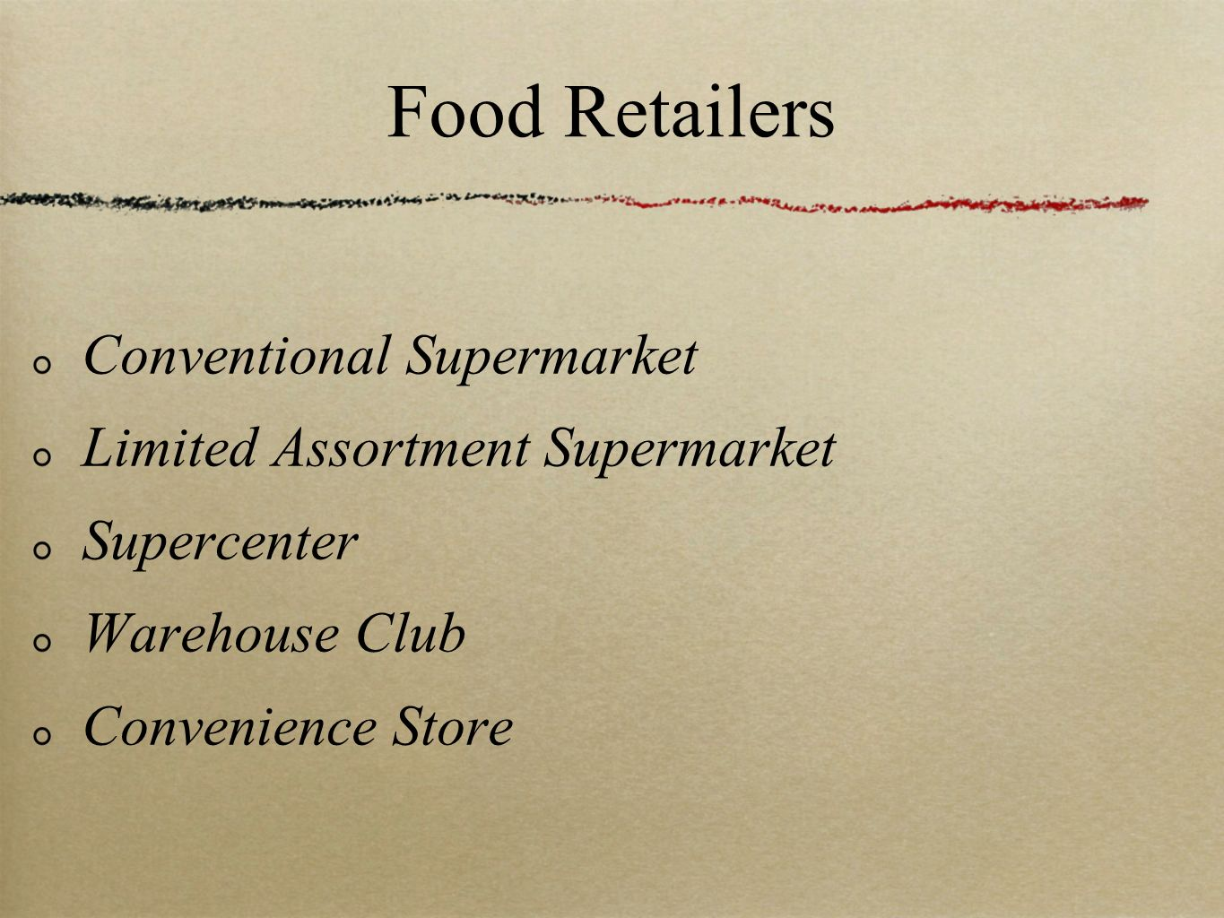 Food Retailers Conventional Supermarket Limited Assortment Supermarket