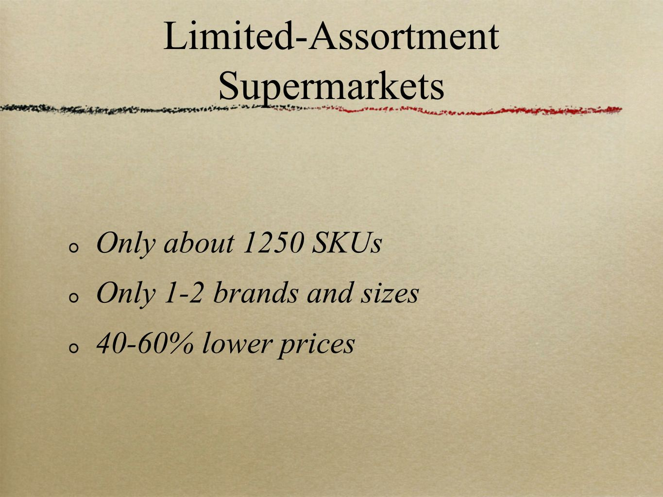 Limited-Assortment Supermarkets